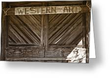 Western Art Barn Doors In Color 3003.02 Greeting Card