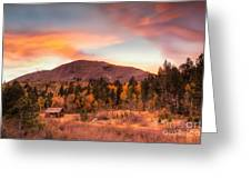 Western Barn At Sunset II Greeting Card