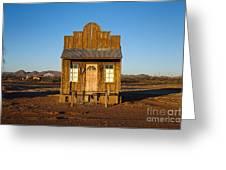 Western Building Greeting Card