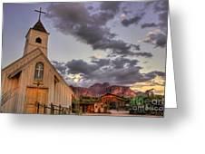 Western Chapel Greeting Card