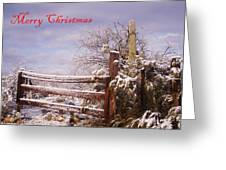 Western Christmas Greeting Card