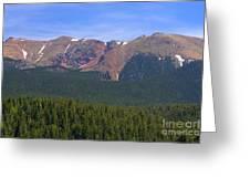 Western Face Pikes Peak Greeting Card