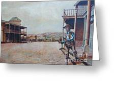 Western Frontier Town Greeting Card