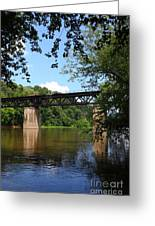 Western Maryland Railroad Crossing The Potomac River Greeting Card