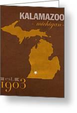 Western Michigan University Broncos Kalamazoo Mi College Town State Map Poster Series No 126 Greeting Card