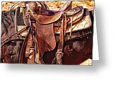 Western Saddle Greeting Card