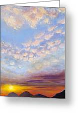 Western Sunset Greeting Card