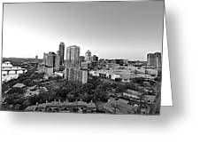Western View Of Austin Skyline Greeting Card