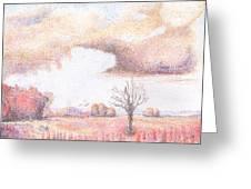 Western Vista - Rain Greeting Card