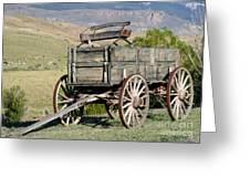 Western Wagon Greeting Card
