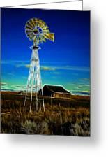Western Windmill Greeting Card by Steve McKinzie