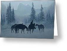 Western Winter Greeting Card by Randy Follis
