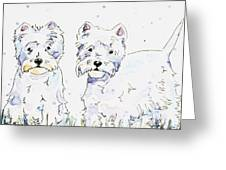 Westie Love Greeting Card