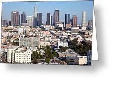 Westlake And Los Angeles Skyline Greeting Card