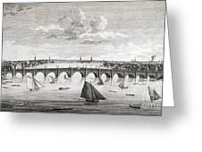 Westminster Bridge, London, Greeting Card