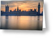 Westminster Nights Greeting Card