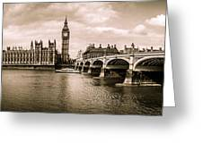 Westminster Pano Mono Greeting Card