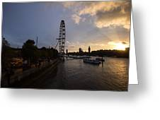 Westminster Sunset Greeting Card