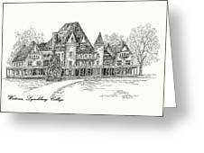 Westover Lynchburg College Greeting Card
