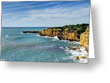 Westward Ho Sailing Around Castelo Points Algarve Portugal Greeting Card by John Kelly