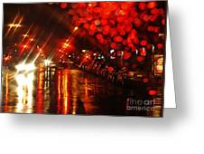Wet City 2 Greeting Card