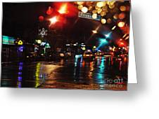 Wet City Greeting Card