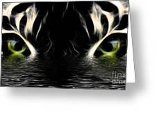 Wet Eye Of A Tiger Greeting Card