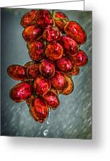 Wet Grapes Four Greeting Card