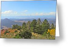 Wet Mountain Valley And Beyond Greeting Card