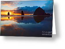 Wet Paint - Sunset In Oregon Greeting Card