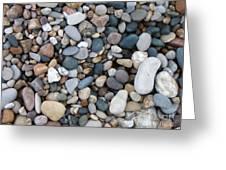 Wet Pebbles Greeting Card by Margaret McDermott