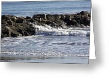 Wet Rocks Greeting Card by Ralph Jones