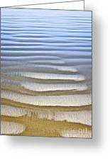 Wet Sand Texture On Ocean Shore Greeting Card