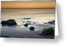 Wet Sunset Reflections Greeting Card
