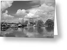 Wey Canal Ripley Surrey Greeting Card