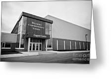 weyburn comprehensive school cugnet centre Saskatchewan Canada Greeting Card