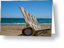 Whale Bones On The Beach Greeting Card by Robert Bascelli
