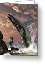 Whale Watcher Greeting Card