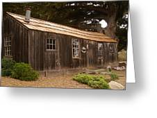 Whalers Cabin Greeting Card by Barbara Snyder