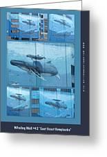 Whaling Wall 42 -  East Coast Humpbacks - Original Painting By Wyland Greeting Card