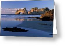 Wharariki Beach Near Farewell Spit Greeting Card