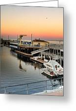 Wharf #2 In Monterey At Sunset Greeting Card