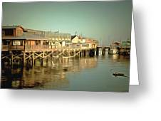 Fishermans Wharf Monterey California Greeting Card