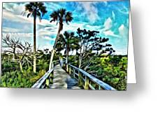 What A Beautiful Boardwalk Greeting Card
