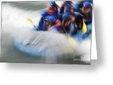 White Water Rafting What A Rush Greeting Card