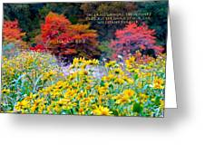What He Inspires Never Fades Greeting Card
