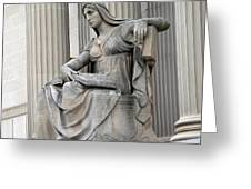 What Is Past Is Prologue Statue At National Archives -- 2 Greeting Card