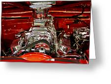 What Is Under The Hood-red Customized Retro Pontiac Greeting Card
