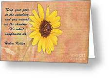 What Sunflowers Do Greeting Card