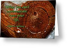 What You Can't Communicate Greeting Card